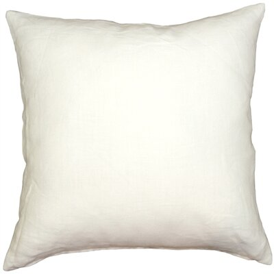 Newsome Linen Throw Pillow Size: 17 H x 17 W x 5 D, Color: White