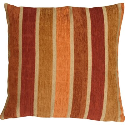 Belington Stripes Chenille Throw Pillow Color: Red/Orange