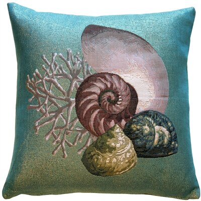 Coral and Shells Shimmering Throw Pillow