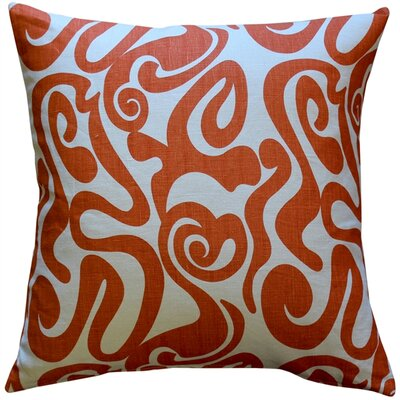 Vanderford Linen Swirl Linen Throw Pillow