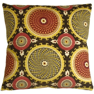 Chessington Medallion Cotton Throw Pillow Color: Fiesta