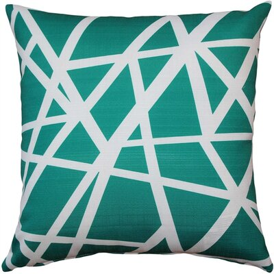 Vanbrunt Indoor/Outdoor Throw Pillow Color: Teal