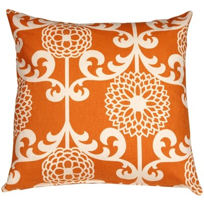 Roth Floret Cotton Throw Pillow Color: Citrus Orange