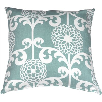 Roth Floret Cotton Throw Pillow Color: Spa