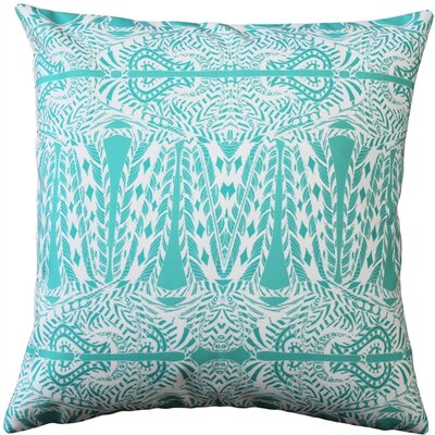 Preble Partridge Stamp Throw Pillow Color: Turquoise