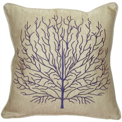 Isla Fire Coral Throw Pillow Color: Blue