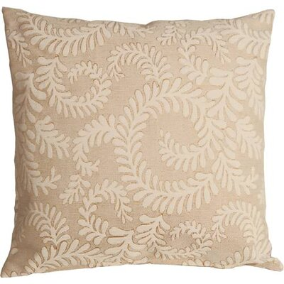 Boutin Ferns Throw Pillow Color: Cream