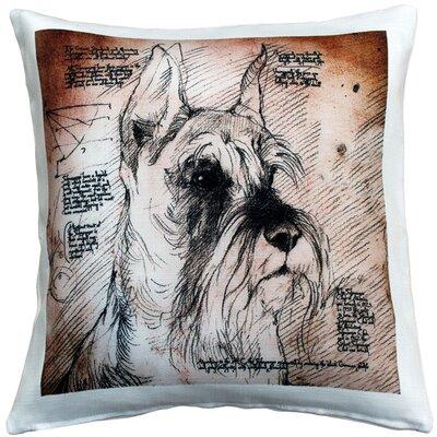 Schnauzer Cropped Ears Dog Indoor/Outdoor Throw Pillow