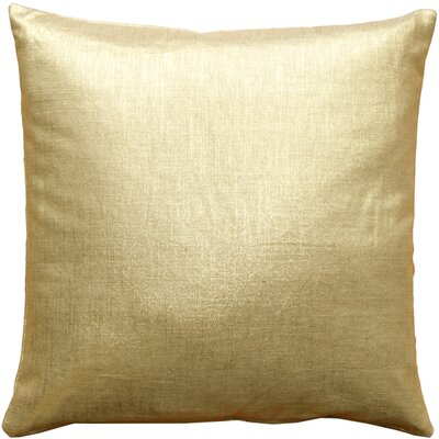Clarisse Linen Throw Pillow Size: 16 H x 16 W x 5 D, Color: Gold Metallic