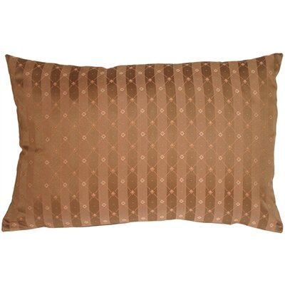 Manhattan Stripes Lumbar Pillow Color: Brown