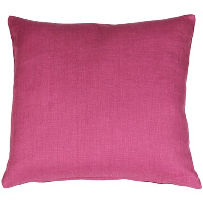 Tuscany Linen Throw Pillow Size: 20 H x 20 W x 6 D, Color: Orchid Pink