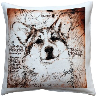 Charlesford Pembroke Welsh Corgi Dog Indoor/Outdoor Throw Pillow