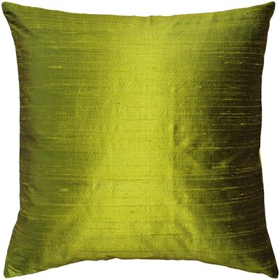 Finlay Solid Silk Throw Pillow Size: 16 H x 16 W x 5 D, Color: Chartreuse Green
