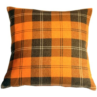 Coulver Contemporary Plaid Throw Pillow Color: Orange