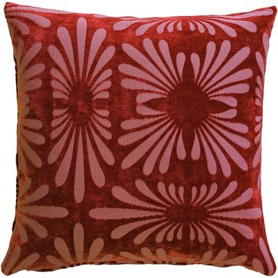 Anmoore Throw Pillow Color: Red
