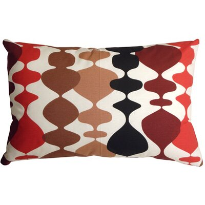 Vanatta Lumbar Pillow Color: Red