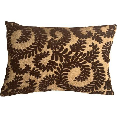 Boutin Ferns Rectangular Lumbar Pillow Color: Brown
