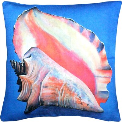 Captiva Queen Conch Throw Pillow