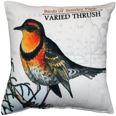 Francena Varied Thrush Bird Throw Pillow