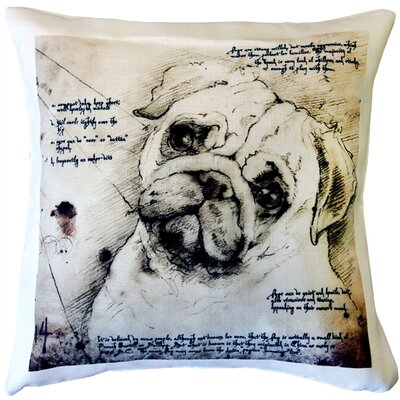 Newfield Pug Dog Indoor/Outdoor Throw Pillow