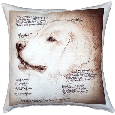 Cherene Golden Retriever Dog Indoor/Outdoor Throw Pillow