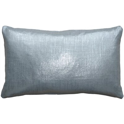 Ressie Linen Lumbar Pillow Color: Silver Metallic