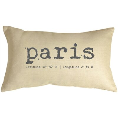 Paris Coordinates Linen Lumbar Pillow