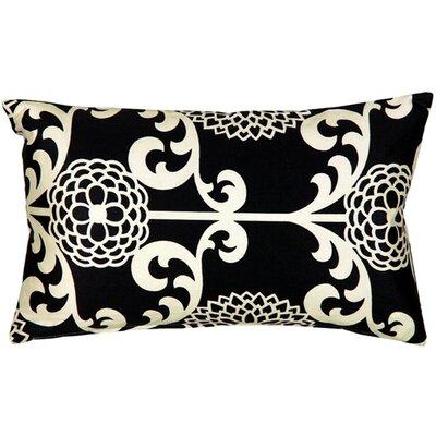Washingtonville Floret Cotton Lumbar Pillow Color: Licorice