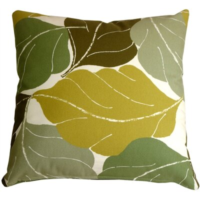 Autumn Leaves Throw Pillow Color: Green