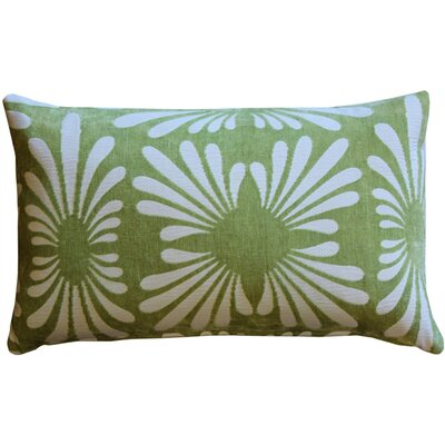 Daisy Lumbar Pillow Color: Green
