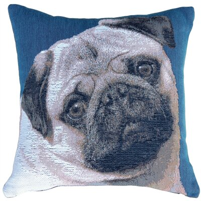 Newfield Pug Throw Pillow