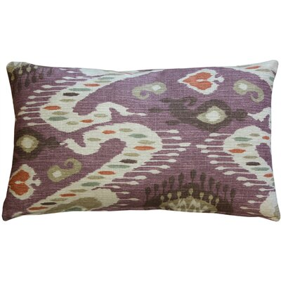 Vandemark Cotton Lumbar Pillow Color: Mulberry