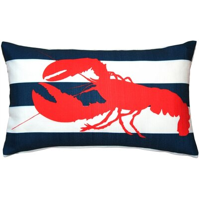 Linnea Lobster Nautical Indoor/Outdoor Lumbar Pillow