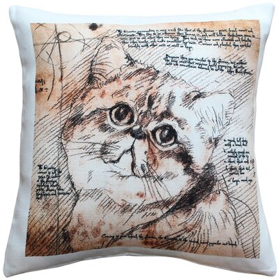 Newcomb Cat Indoor/Outdoor Throw Pillow