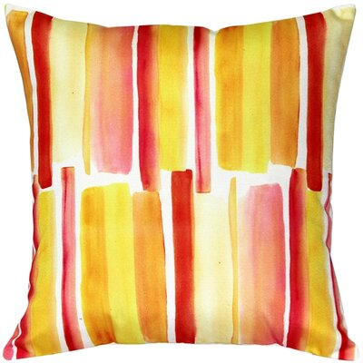 Princetown Beach Glass Throw Pillow Color: Orange