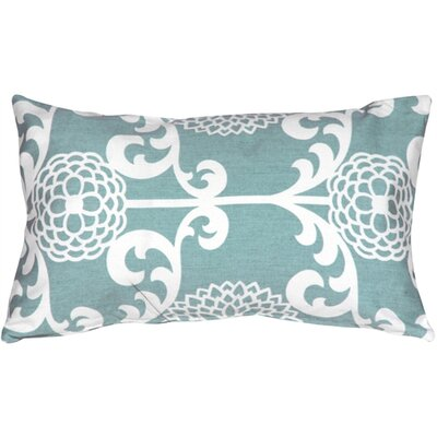 Washingtonville Floret Cotton Lumbar Pillow Color: Spa