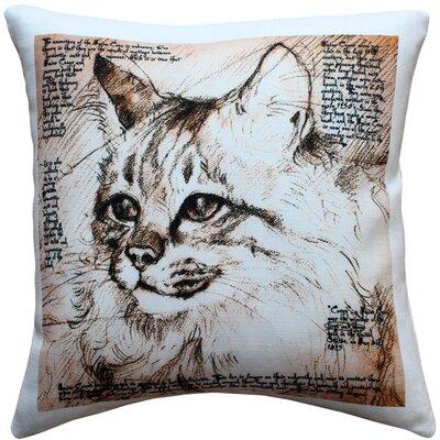 Maine Coon Cat Indoor/Outdoor Throw Pillow