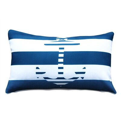 Leonor� Anchor Nautical Indoor/Outdoor Lumbar Pillow