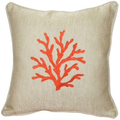 Lyla Sea Coral Throw Pillow Color: Orange