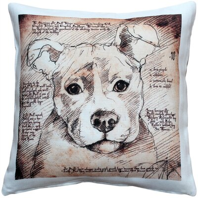Pit Bull Dog Indoor/Outdoor Throw Pillow