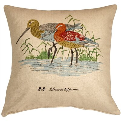 Clematite Wading Birds Throw Pillow