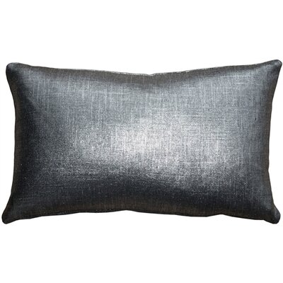 Clarisse Linen Lumbar Pillow Color: Platinum Metallic