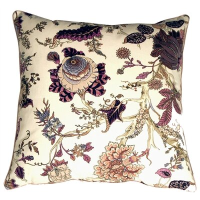 Framingham Highland Floral Cotton Throw Pillow