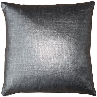 Clarisse Linen Throw Pillow Size: 20 H x 20 W x 6 D, Color: Platinum Metallic