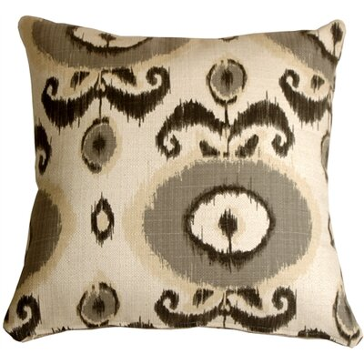 Fortune Ikat Throw Pillow Color: Gray