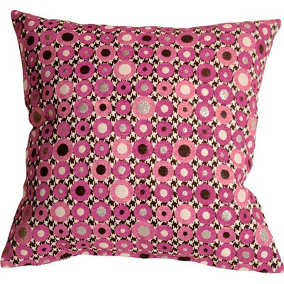 Kinley Spheres Square Throw Pillow Color: Pink