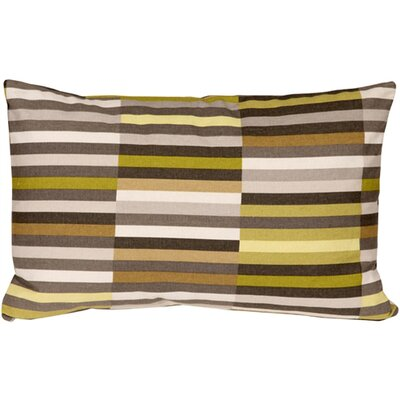Jamaal Side Step Cotton Lumbar Pillow Color: Avocado