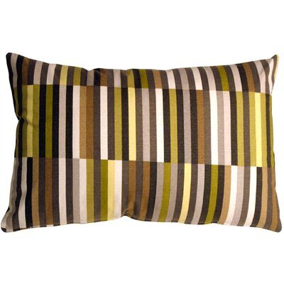Jamaal Contemporary Side Step Cotton Lumbar Pillow Color: Avocado