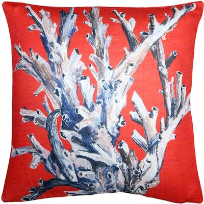 Ocean Reef Coral Throw Pillow Color: Red