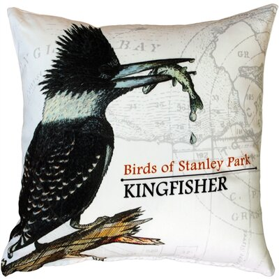 Francene Kingfisher Bird Throw Pillow